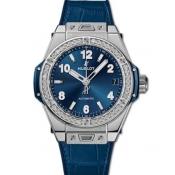 ウブロ ブルー ビッグバン 465.SX.7170.LR.1204ワンクリック スチール ブルー ダイヤモンド