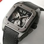 ブランド CARTIERカルティエ時計コピー サントス100 カーボン クロノグラフ W2020005