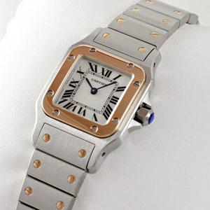 pretty nice d5aae d2ac4 ブランド CARTIERカルティエ時計コピー サントス ガルベ 18Kピンクゴールド/ステンレスコンビW20103C4