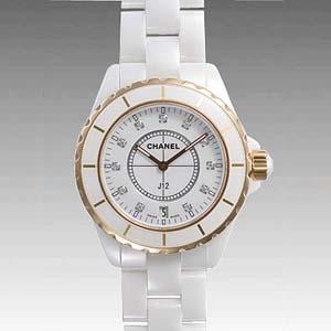 buy online c5458 bc217 偽物CHANELシャネル時計 ホワイトセラミック/ピンクゴールドJ12 38 H2180 スーパーコピー