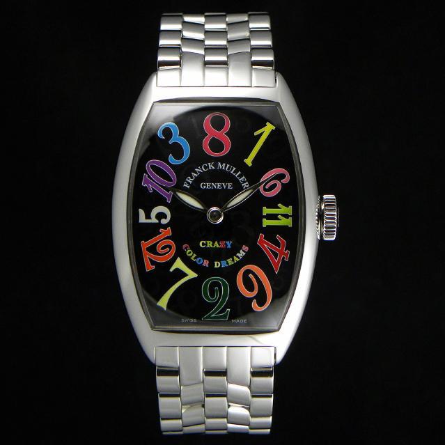 big sale 03df0 3ef03 腕時計 コピー FRANCK MULLER フランクミュラー トノウカーベックス カラードリームス クレイジーアワーズ 5850CHCOLDREAMS