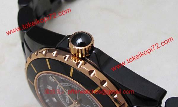 size 40 b300c 17c22 偽物CHANELシャネル時計 スーパーコピーJ12 セラミック/ピンクゴールド33 H2543